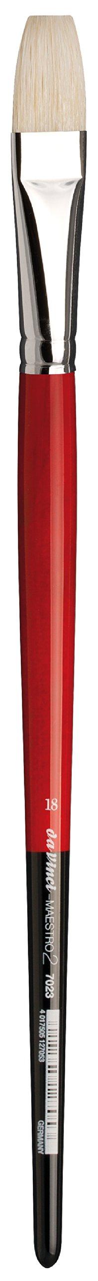 da Vinci Hog Bristle Series 7023 Maestro 2 Artist Paint Brush, Flat with European Sizing, Size 18