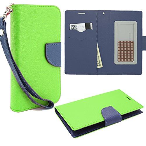 HJ POWER[TM] Xiaomi Mi 4i CT2 Leather PU WALLET POUCH Cover + [Free HJ POWER Stylus] WPUNI5CT2-Blue Green