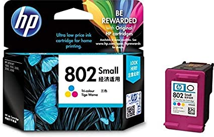 HP 802 Small Ink Cartridge  Tricolour  Ink Cartridges