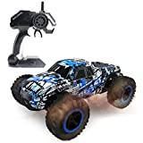 Hugine 1:16 2.4G RC Car Off Road Vehcicle High Speed Racing Monster Truck 20km/h Muscle Wheels Independent Suspension Radio Control Cars Toys (Monster Blue)