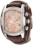 Invicta Men's 11323 Lupah Chronograph Rose Gold Tone Dial Brown Leather Watch
