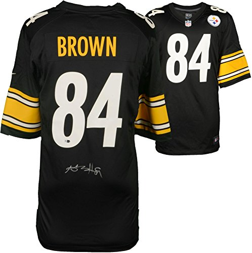 Antonio Brown Pittsburgh Steelers Autographed Black Nike Game Jersey - Fanatics Authentic Certified - Autographed NFL Jerseys ()
