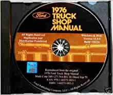 1976 FORD TRUCK & PICKUP REPAIR SHOP & SERVICE MANUAL CD - F100, F150