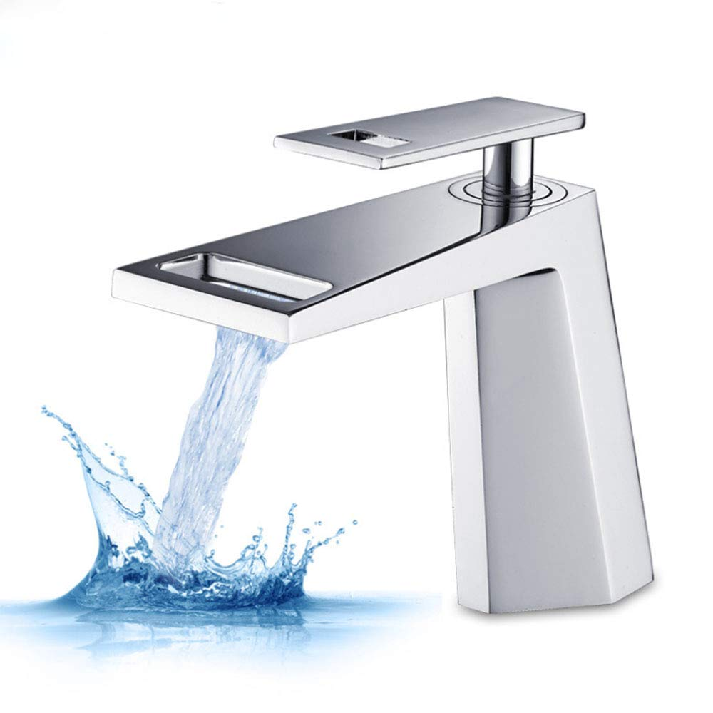 Modern Single Handle&Hole Vessel Basin Bathroom Vanity Sink Faucet Brushed Nickel Mix-up,Chrome