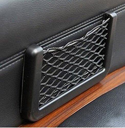 Juntu Cargo Net Storage Useful Car Seat Side Back Storage Pocket Net Bag Phone Holder Pocket Organizer 3 x 6