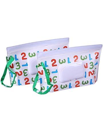 Bolsa para toallitas húmedas, funda de viaje para toallitas, reutilizable, rellenable, bolsa