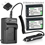 Kastar Battery (2-Pack) + Charger for Sony NP-FH50, NP-FH40, NP-FH30 and DSLR-A230, DSLR-A330, DSLR-A290, DSLR-A380, DSLR-A390, HDR-TG1E, HDR-TG3, HDR-TG5, HDR-TG7, DSC-HX1, DSC-HX200,DSC-HX100V