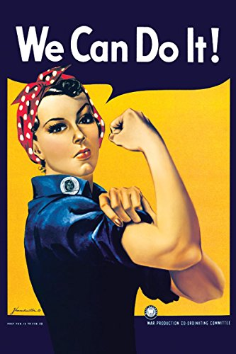 Buyartforless Rosie The Riveter  36x24 Art Print Poster Woma