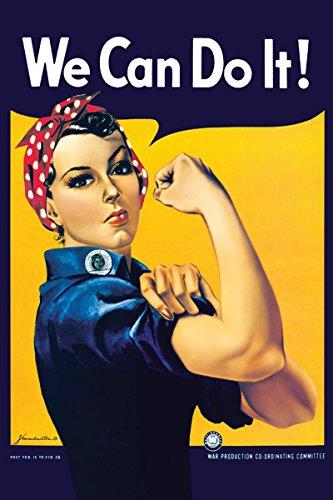 rosie riveter print poster womans