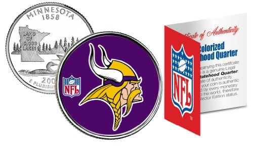MINNESOTA VIKINGS NFL MN U.S. Statehood Quarter U.S. Coin *Licensed*