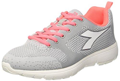 Femme Running De W Run Chaussures Diadora Bianco Gris X Light grigio Chiaro HUYxq7