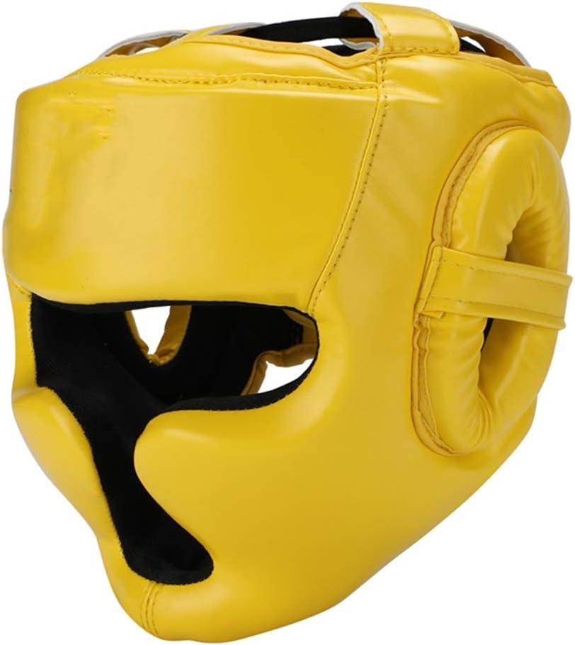 Casque Sparring Bout3/® Casque De Boxe Protection T/ête Muay Thai MMA Entra/înement Arts Martiaux UFC Combat Arts avec Grill protecci/ón