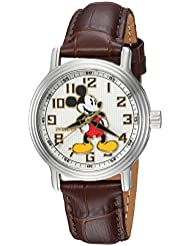 Invicta Womens Disney Limited Edition Quartz Stainless Steel and Leather Casual Watch, Color:Brown (Model:...