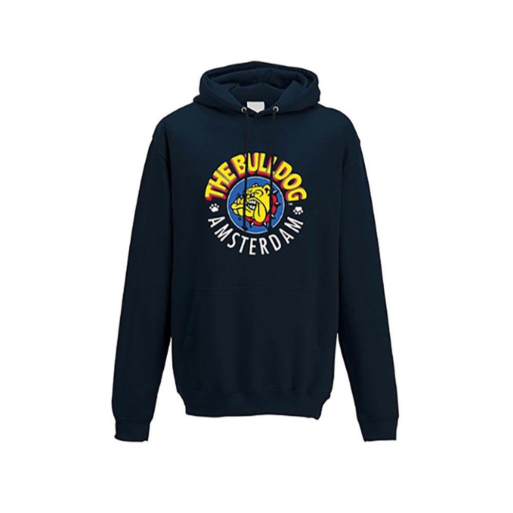 The Bulldog Sweatshirt mit Kapuze Pullover Baumwolle Amsterdam Größe XL blau Unisex