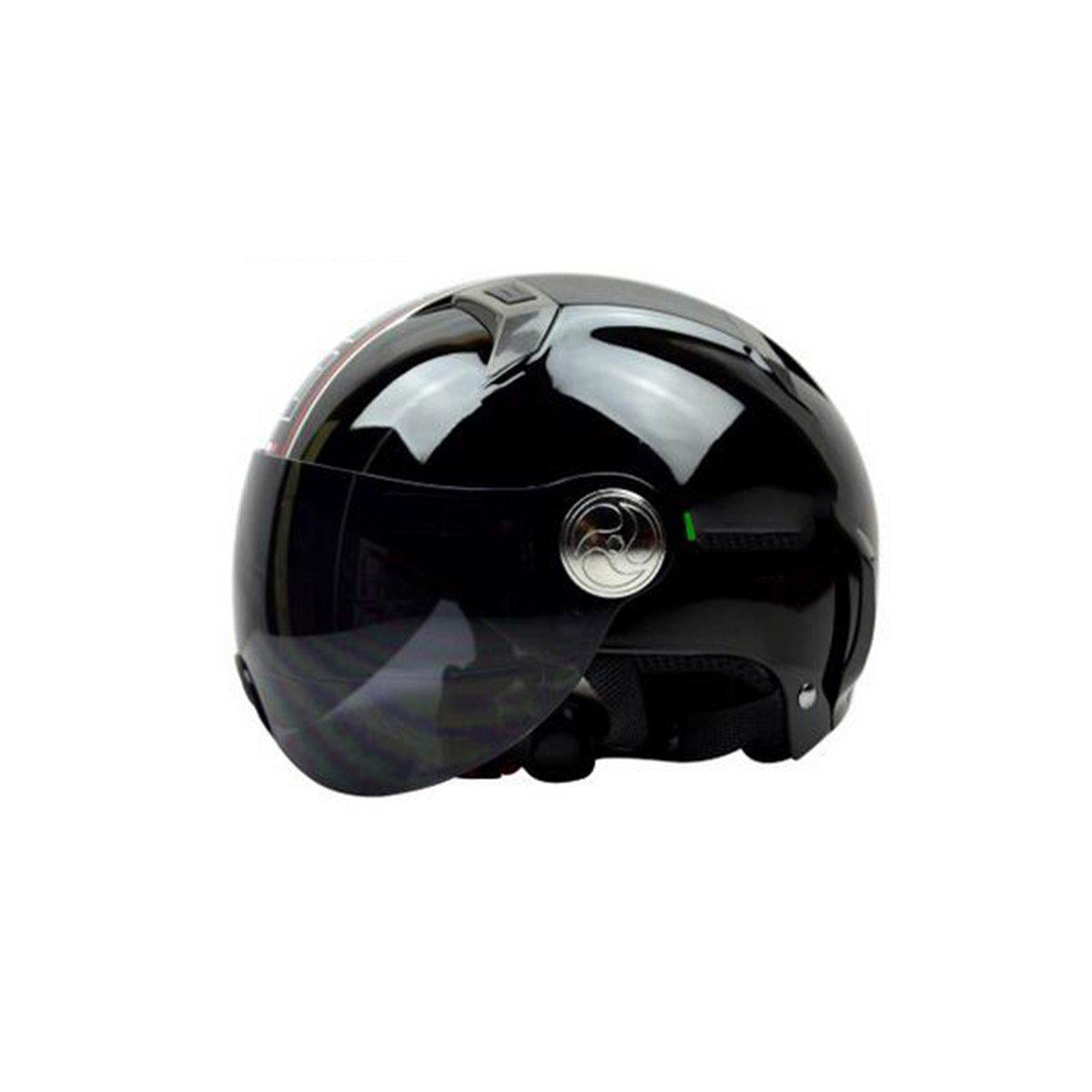 TZQ Sommer-Sonnenschutzlicht-Motorrad-Batterie-Auto-Dame Halber Sturzhelm-Art- Und Weisewrestling-Hut-Mann-Helme,C-OneGröße