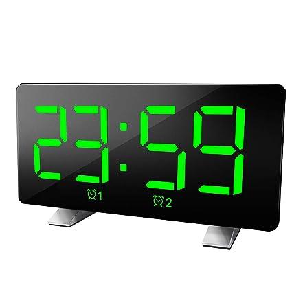 CWWHY Reloj Despertador Multifunción Pantalla LED Grande ...