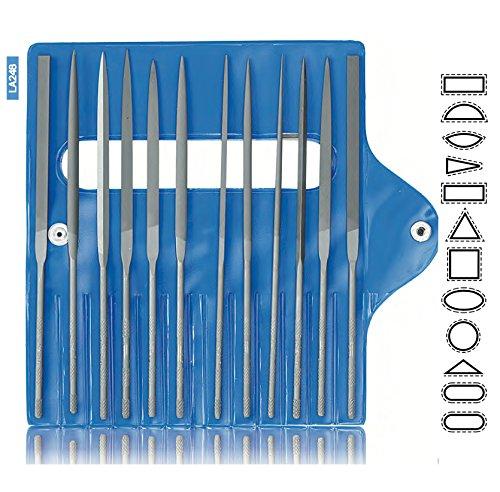 VALLORBE LA2483 GLARDON SWISS MADE NEEDLE FILES 12 SET CUT 2/160mm Jewelers File Set by VALLORBE GLARDON (Image #1)