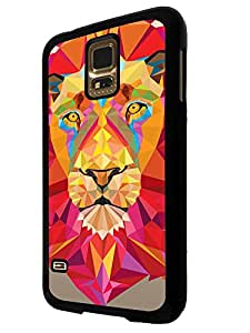 281 - Aztec Lion Face Design For Samsung Galaxy S5 Mini Fashion Trend CASE Back COVER Plastic&Thin Metal