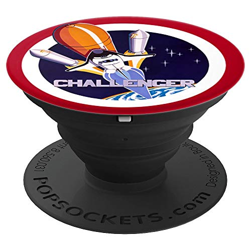 NASA Space Shuttle Challenger Crew logo PopSockets Grip and Stand for Phones and Tablets