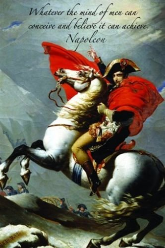 (BELIEF & ACHIEVEMENT QUOTE Inspirational Poster 24X36 Napoleon on)