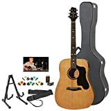Sawtooth ST-ADN-KIT-2 Acoustic Guitar with Black Pickguard - Includes Accessories, Hard Case & Online Lesson