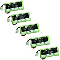 Synergy Digital Cordless Phone Batteries - Replacement for AT&T BT8001, BT8300, BT184342, BT284342 Cordless Phone Batteries (Set of 5)