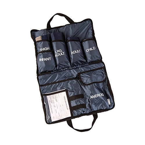 MABIS Medic-Kit5 EMT and Paramedic First Aid Kit with 5 Calibrated Nylon Blood Pressure Cuffs, Blue by MABIS DMI Healthcare (Image #1)