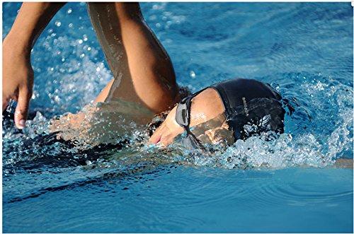 BRIGADA Swim Cap Silicon Reinforced Edge Waterproof Swim Caps Non-Slip Tear Resistant Comfortable Swimming Cap for Adults,Youths