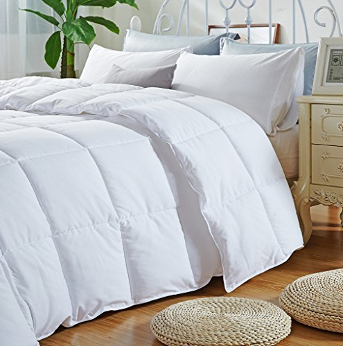 newlake white down alternative comforter with cotton cover import it all. Black Bedroom Furniture Sets. Home Design Ideas