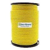 "Sea-Strand 1/2"" x 600' Reel, Yellow, 3-Strand"