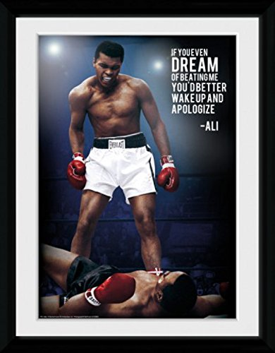 Muhammad Ali Framed Collector Poster - If You Even Dream Of Beating ...