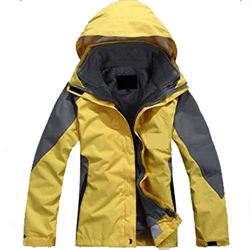 In Donna Da Giallo Peluche Tripla Antivento Femminili Modelli Alpinismo Abbigliamento Pezzi Fodera Caldo Esterno Giacche Due Per 0AxUqSHw
