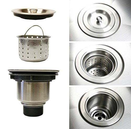 Zuhne Exo Stainless Steel Kitchen Sink Basket Strainer Set f