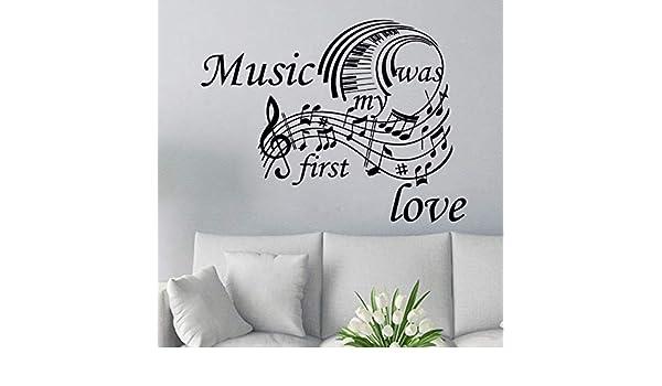 Teclado de piano Tatuajes de Pared Cita de Música de Vinilo Etiqueta de La Pared Diseño de Interiores de Música Mural de la Pared Decoración Para El Hogar ...