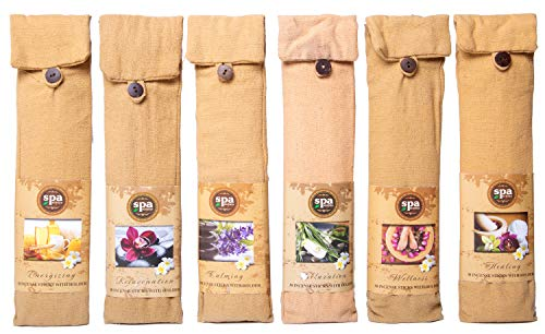 Karma Scents Premium Spa Incense 180 Sticks with a 6 Wooden Holders in a Cotton Bag - 6 Set Pack - 6 Assorted Fragrances