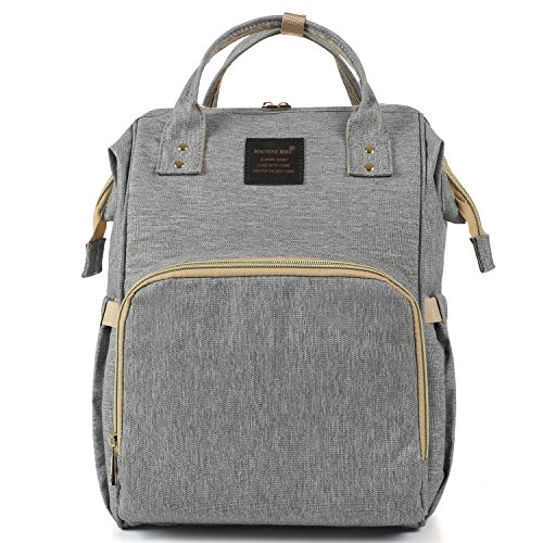 Breast Pump Backpack Bag, Diaper Bag Organizer with 10 Pockets Fits Most Breast Pumps - Gray