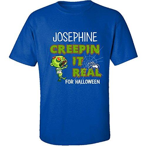 Adult Josephine Halloween Costumes (Josephine Creepin It Real Funny Halloween Costume Gift - Adult Shirt L Royal)