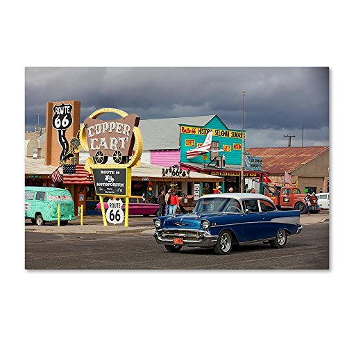 Rt 66 Fun Run Seligman by Mike Jones Photo, 30x47-Inch Canvas Wall Art