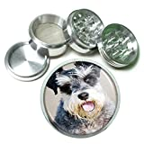Dog dog schnauzer portrait 4Pc Aluminum Grinder