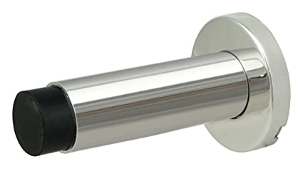 INOX DSIX04 32 Wall Mount Door Stop On Rose, Polished Stainless Steel