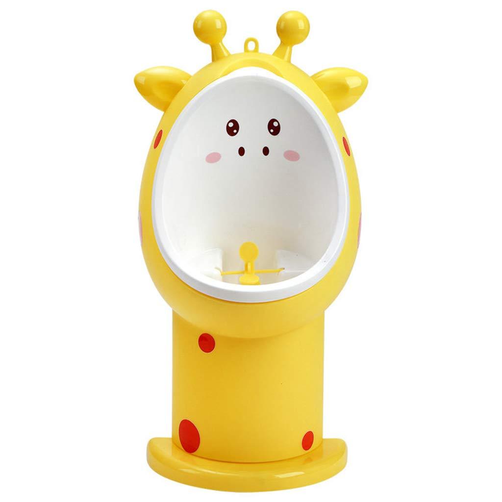SYYC トイレトレーニング小便器 幼児 男の子用 面白い狙いのターゲット付き 高さ調節可能 B07R16CMNY イエロー