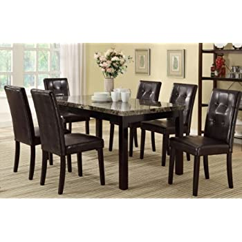 Delightful 7 Piece Casual Dining Set By Poundex