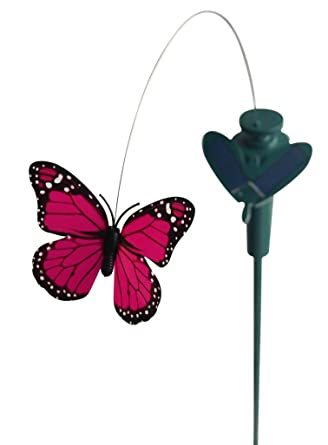 solaration solar yard stake fluttering butterfly solar or battery powered