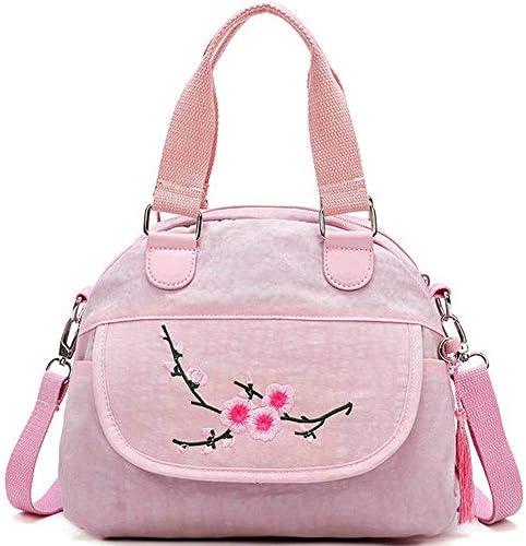 女性のためのフラワーパターンナイロンナショナルスタイルのハンドバッグショルダーバッグクロスボディバッグ YZUEYT