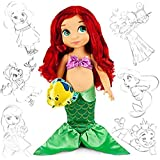 Disney Princess Little Mermaid Animators' Collection Toddler Doll 16'' H - Ariel with Flounder