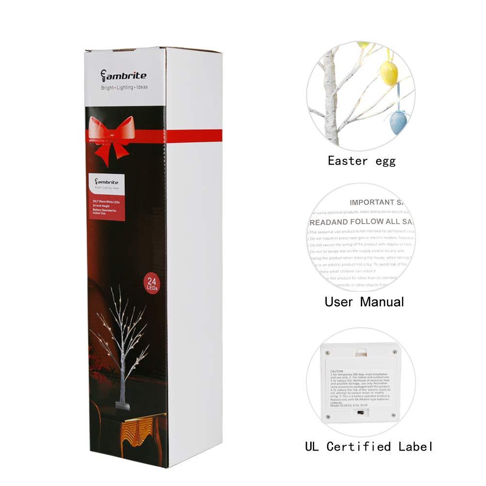 Outdoor Dcor Lighting EAMBRITE 2FT Easter Egg Tree Light EAMBRITE ...