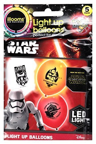illooms Star Wars Light Up Balloons (Stormtroopers) (Star Wars The Force Awakens In Concert)