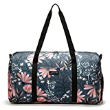 Jadyn B 22'' Women's Weekender Duffel Bag with Shoe Pocket, Navy Floral