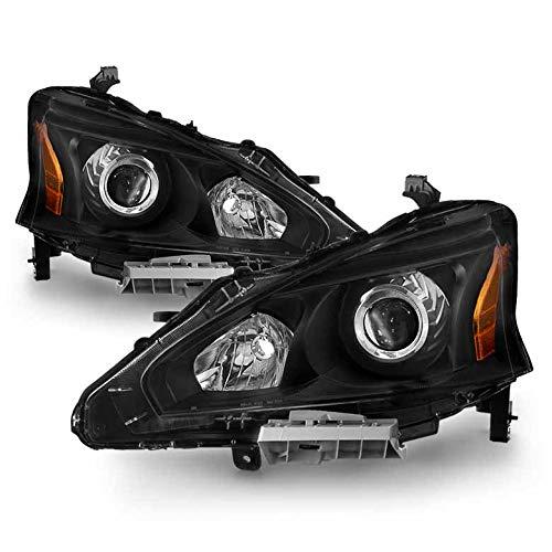 Xtune 2013-2015 Altima 4-Door Sedan Black Housing Projector Headlights Pair L+R 2014
