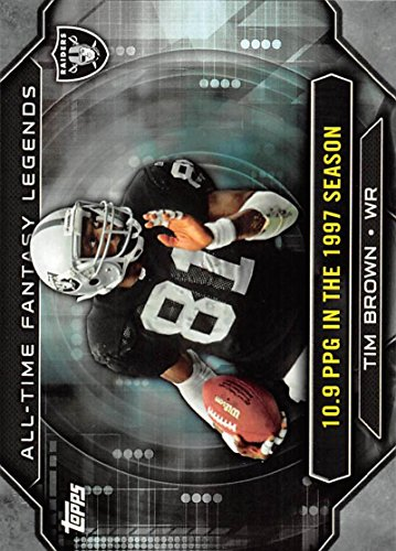 2015 Topps All Time Fantasy Legends #ATFL-TBR Tim Brown Raiders NFL Football Card NM-MT (Best Football Photos Of All Time)